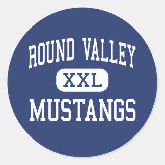 Round Valley - Mustangs - High - Covelo California Classic Round Sticker