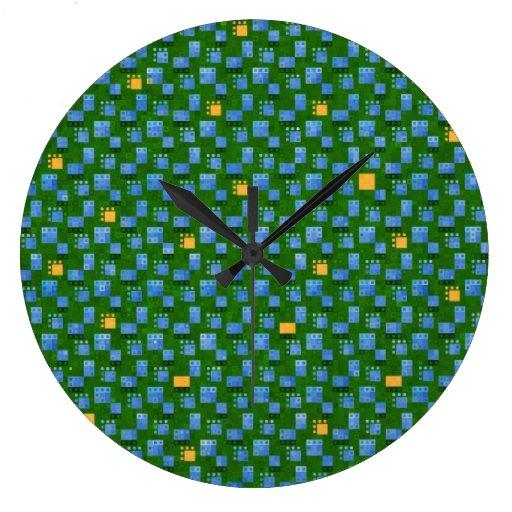 Round Varsely Mosaic Clock
