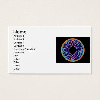 Round victorian era graphic business card