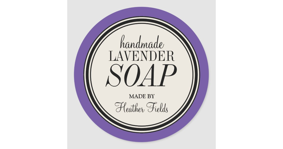 round vintage label frame lavender soap template. Black Bedroom Furniture Sets. Home Design Ideas
