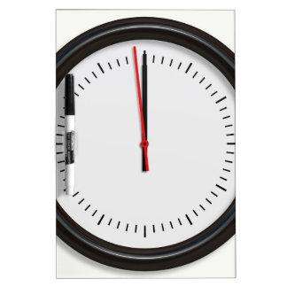 Round Wall Clock Dry-Erase Board