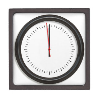 Round Wall Clock Keepsake Box