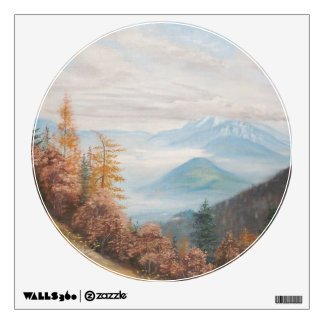 Round Wall Decall Autum Trees Wall Sticker