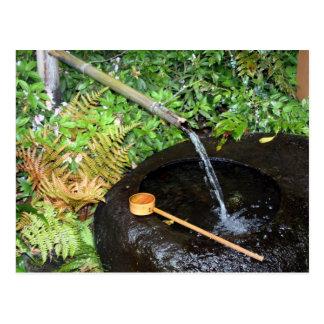 round water basin postcard