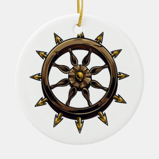 Round wheel with points pagan design.png christmas ornaments