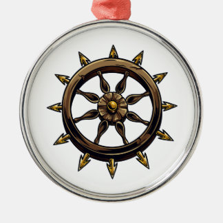 Round wheel with points pagan design.png christmas tree ornaments