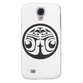 Round White Raven.ai Samsung Galaxy S4 Covers