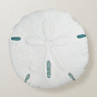 Round White Sand Dollar Home Decor Pillow Round Pillow