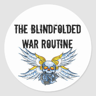 Round winged sticker