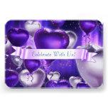 Rounded Balloon Heart Customizable Invitation