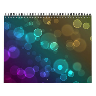 Rounded Bokeh Abstract Calendar