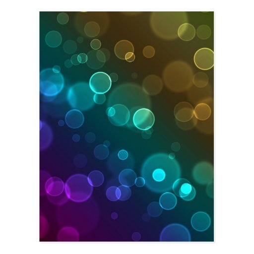 Rounded Bokeh Abstract Postcard