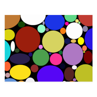 Rounded Color Variety Postcard
