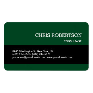 Rounded Corner Black Forest Green Business Card