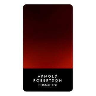 Rounded Corner Black Red Elegant Business Card