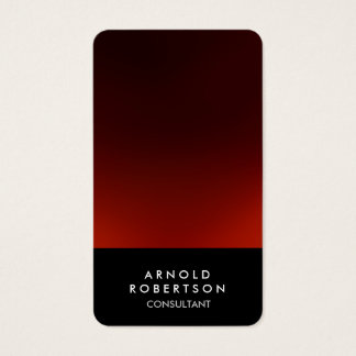 Rounded Corner Black Red Elegant Business Card