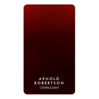 Rounded Corner Brownish Red Elegant Business Card