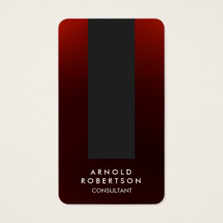 Rounded Corner Brownish Red Grey Business Card