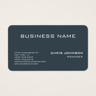 Rounded Corner Charcoal Gray Business Card