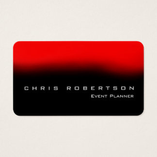 Rounded Corner Event Planner Red Business Card