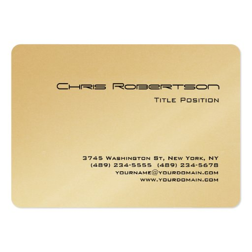 Rounded Corner Gold Chubby Business Card