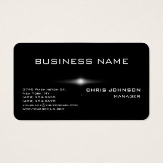 Rounded Corner Gray Rich Black Business Card