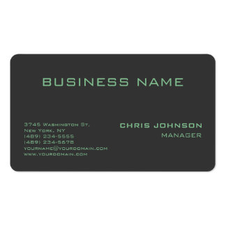 Rounded Corner Green Gray Manager Business Card