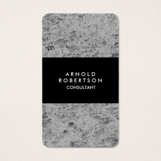 Rounded Corner Grey Black Elegant Unique Business Card