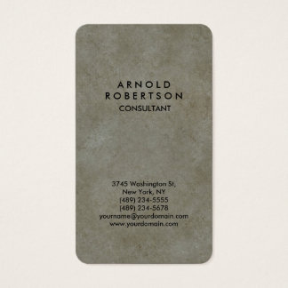 Rounded Corner Grey Stone Wall Elegant Unique Business Card