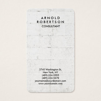 Rounded Corner Grey Wall Elegant Unique Business Card