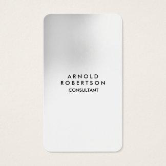 Rounded Corner Grey White Elegant Unique Business Card