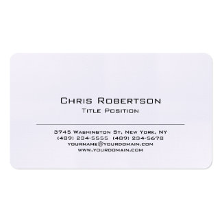 Rounded Corner Linen Charming Business Card