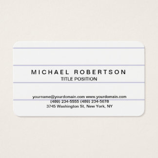 Rounded Corner Minimalist Consultant Business Card