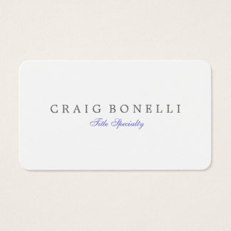 Rounded Corner Sophisticated Script Business Card