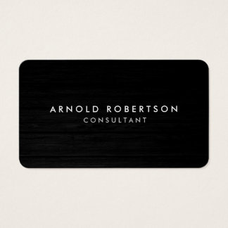 Rounded Corner Wood Professional Business Card