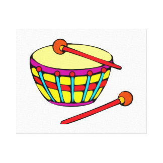 Rounded Drum Simple Version Canvas Print