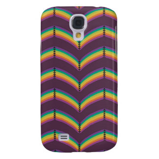 Rounded Rainbow Chevron, Purple Samsung S4 Case