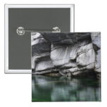 Rounded Rock Cliff by Verzasca River 2 Inch Square Button