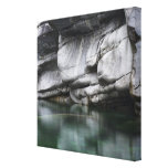Rounded Rock Cliff by Verzasca River Canvas Print