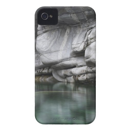 Rounded Rock Cliff by Verzasca River iPhone 4 Cases