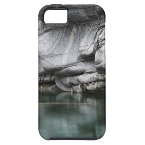 Rounded Rock Cliff by Verzasca River iPhone 5 Case