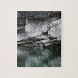 Rounded Rock Cliff by Verzasca River Jigsaw Puzzle