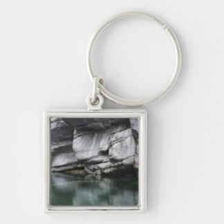 Rounded Rock Cliff by Verzasca River Keychain