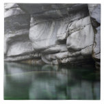 Rounded Rock Cliff by Verzasca River Large Square Tile