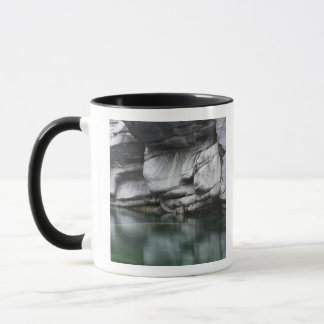 Rounded Rock Cliff by Verzasca River Mug