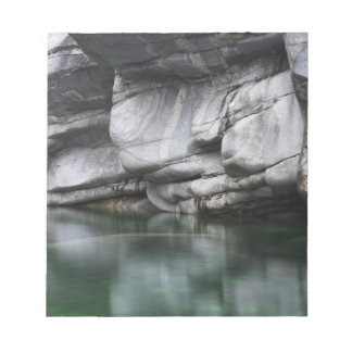 Rounded Rock Cliff by Verzasca River Notepad