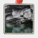 Rounded Rock Cliff by Verzasca River Christmas Tree Ornaments