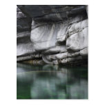 Rounded Rock Cliff by Verzasca River Postcard
