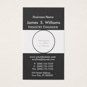 Round shape business cards templates zazzle rounded shape unique black white minimalist business card colourmoves Choice Image