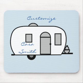 Rounded travel trailer Thunder_Cove Mouse Pad